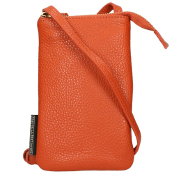 Fred De La Bretoniere grain leather oranje