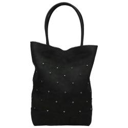 Zebra Trends natural bag studs zwart