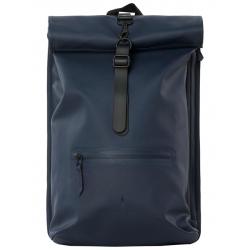 Rains roll top rucksack blauw