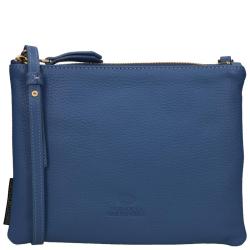 Fred De La Bretoniere grain leather blauw