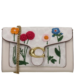 Coach Floral Embroidery Tabby
