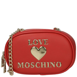 Love Moschino padded shiny heart rood