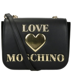 Love Moschino padded shiny heart zwart