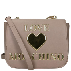 Love Moschino padded shiny heart grijs