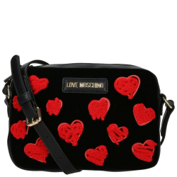 Love Moschino velvet embroidery print