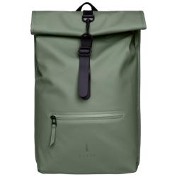 Rains roll top rucksack groen
