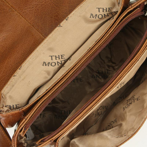 the Monte Buff Leather cognac