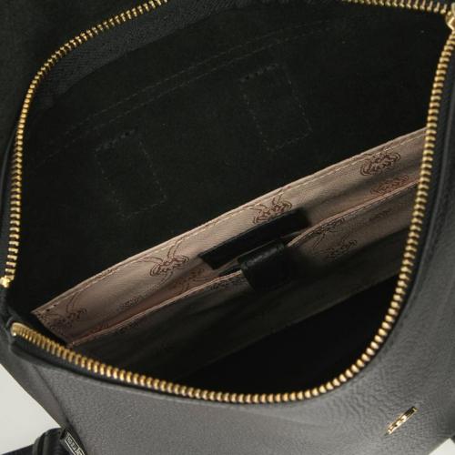 Fred De La Bretoniere Heavy Grain Leather zwart