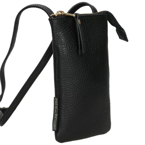 Fred De La Bretoniere Grain Leather zwart
