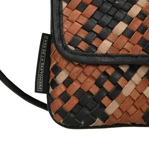 Fred De La Bretoniere Woven Grain Leather bruin