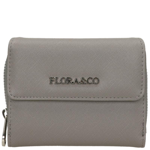 Flora & Co Saffiano grijs