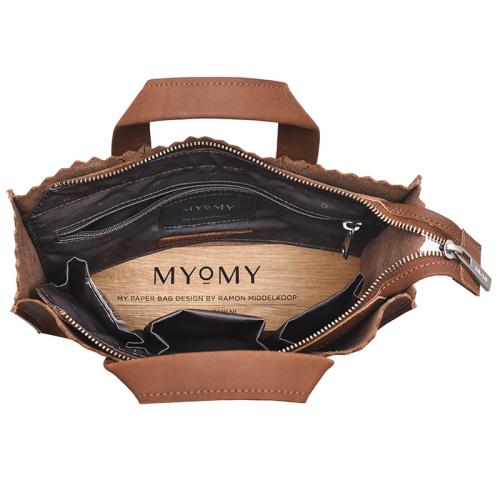 MYOMY My Paper Bag Handbag Mini cognac