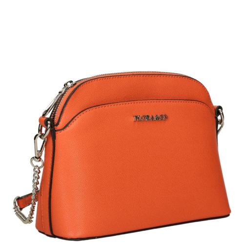 Flora & Co Saffiano oranje