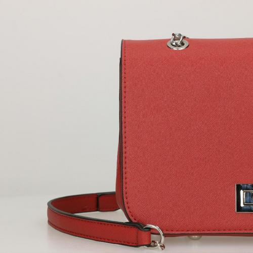 Flora & Co Saffiano rood