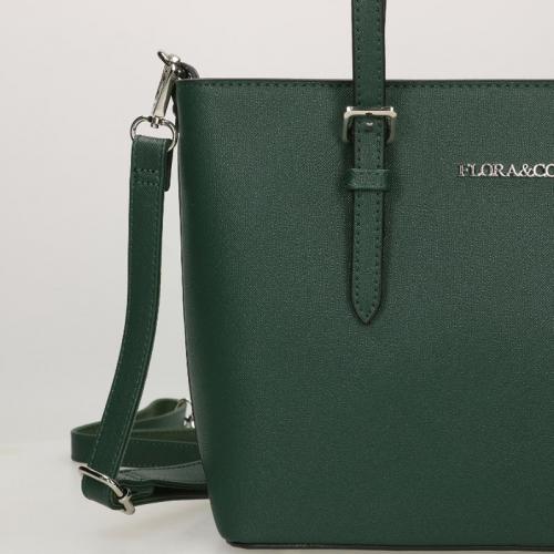 Flora & Co Saffiano groen