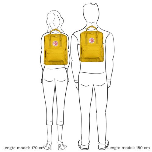 Fjällräven Kånken geel