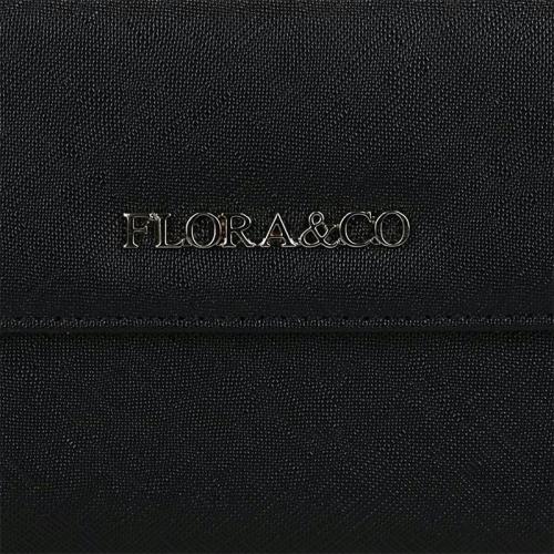 Flora & Co Saffiano zwart