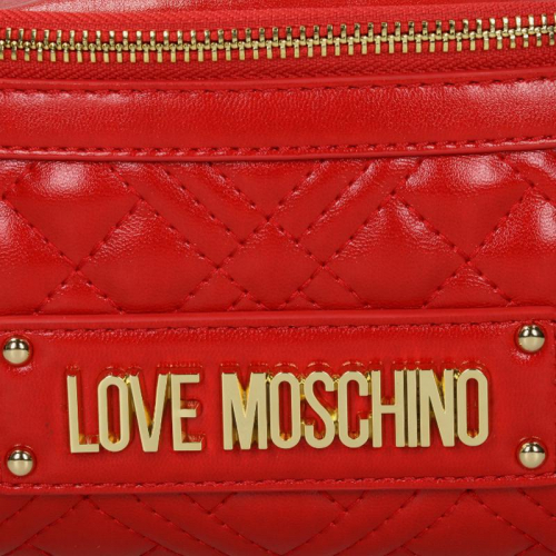 Love Moschino New Shiny Quilted rood