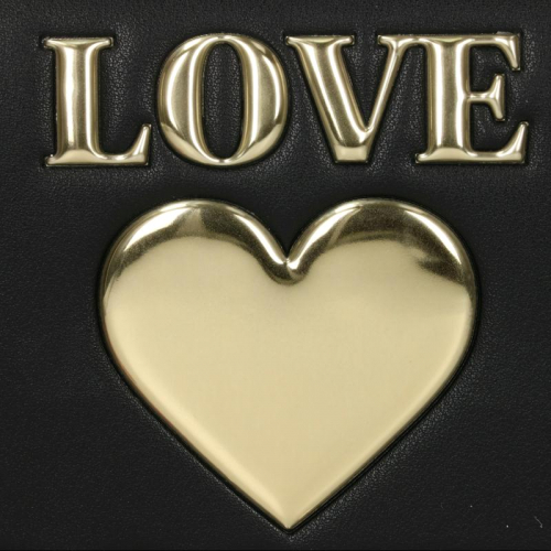 Love Moschino Padded Shiny Heart zwart