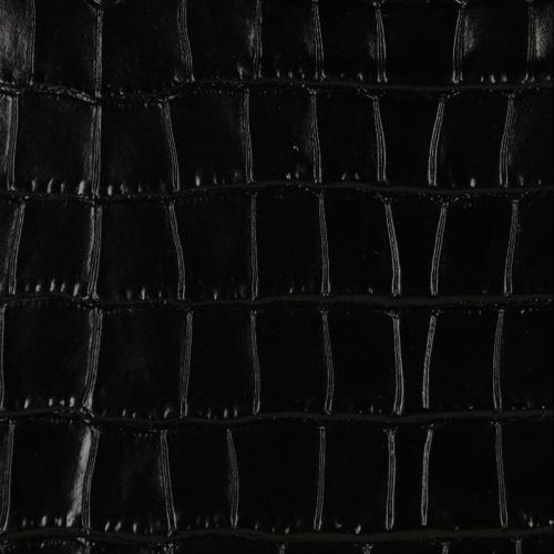 Coccinelle Sortie Croco Shiny Soft zwart